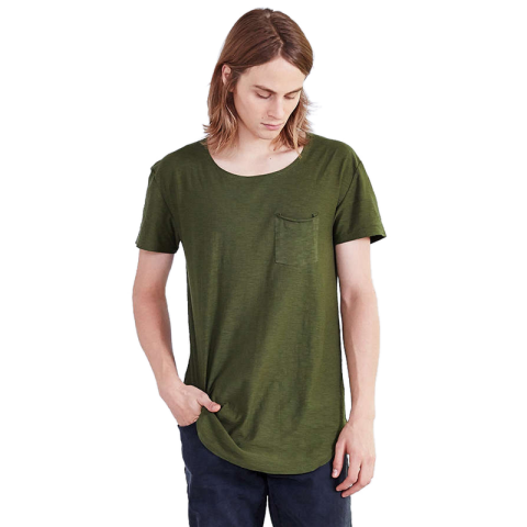 T-Shirt Masculina Base Arredondada